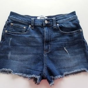 VS Pink Sz 10 Distressed Denim Shorts